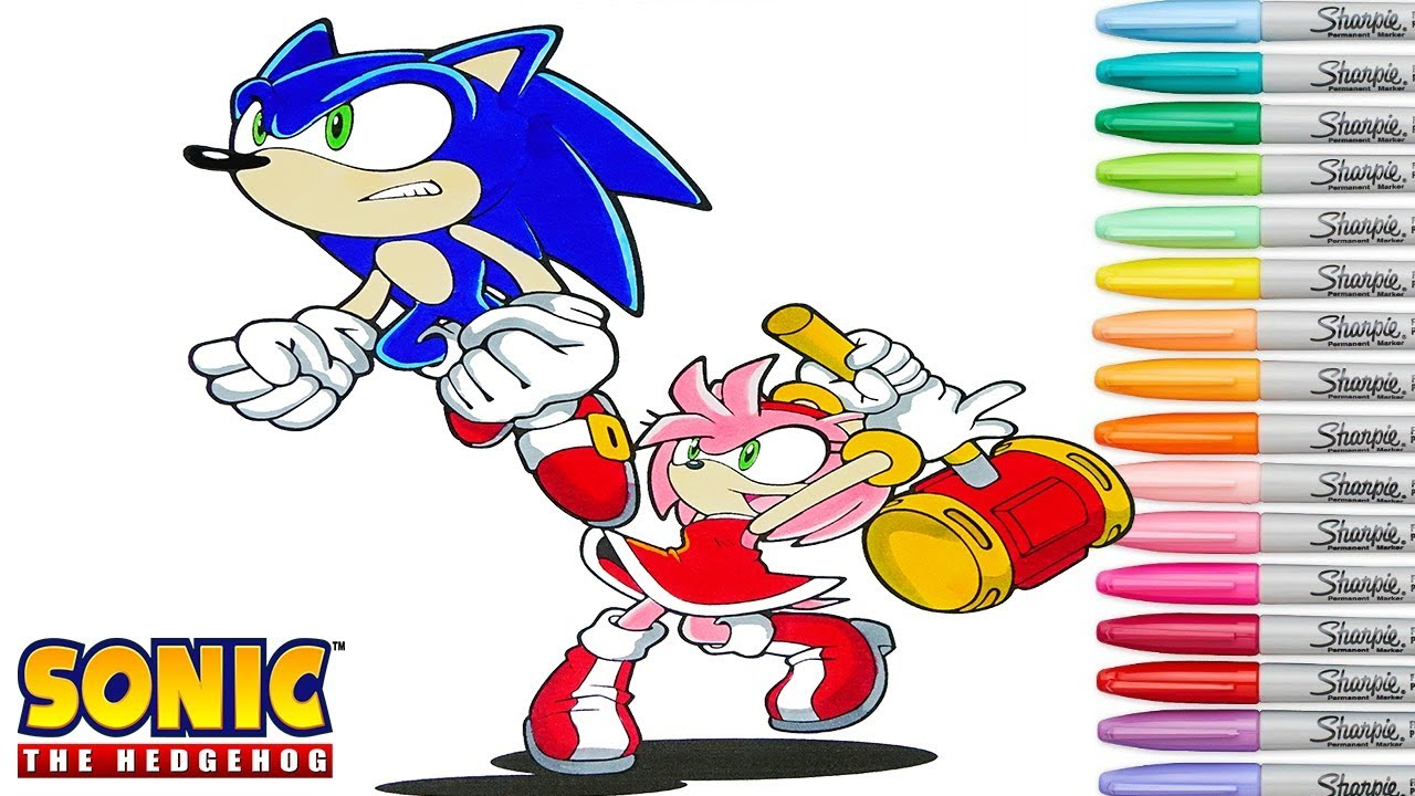 Sonic The Hedgehog Coloring Book Pages Amy Rose Sega