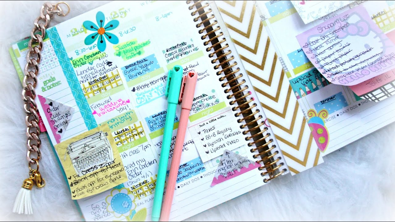 How To Organize And Decorate Your Planner Youtube