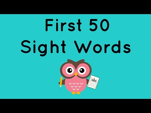 First 50 Sight Words