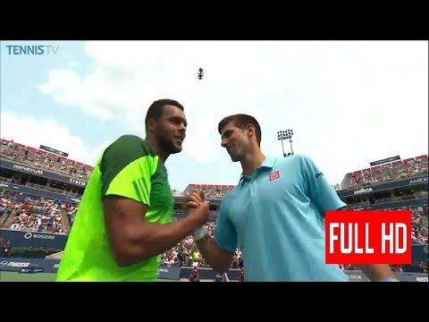 Jo Wilfried Tsonga vs Novak Djokovic Toronto 2014 Third Round Highlights HD gr