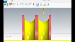 마스터캠 오토캐드 CAD CAM CNC선반 곡면 홈파기…