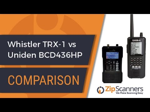 Whistler TRX-1 Vs Uniden BCD436HP | Compare Police Scanners