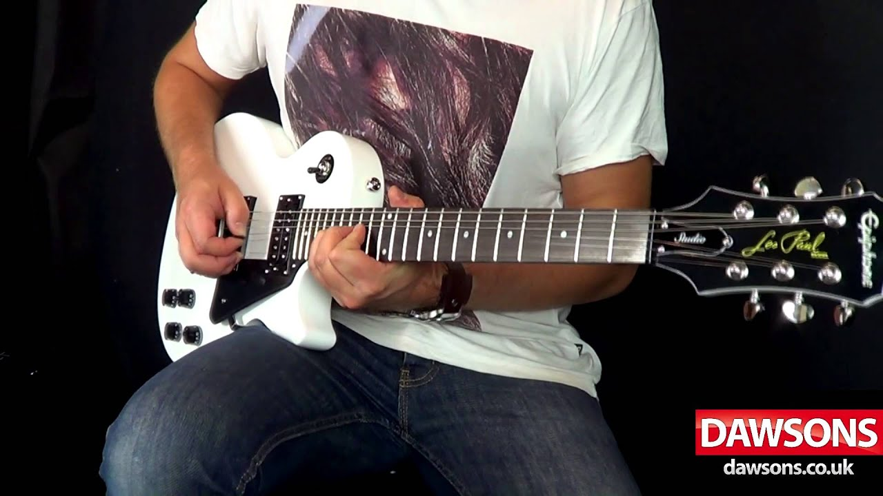 epiphone les paul studio alpine white demo youtube. Black Bedroom Furniture Sets. Home Design Ideas