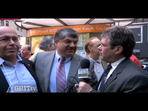GRITtv: Wall Street Protest with Richard Trumka