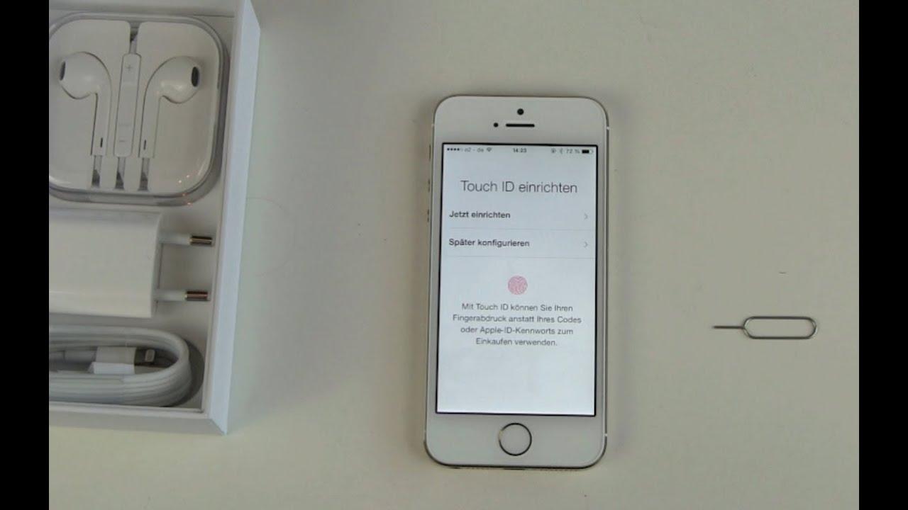 iPhone 5s Gold einrichten und erster Eindruck - YouTube