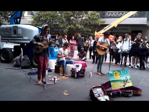 Woodlock performing at Melbourne - Little Lion Man