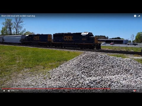 Short CSX local with ex-B&O road slug