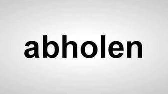 abholen - Deutsche Aussprache