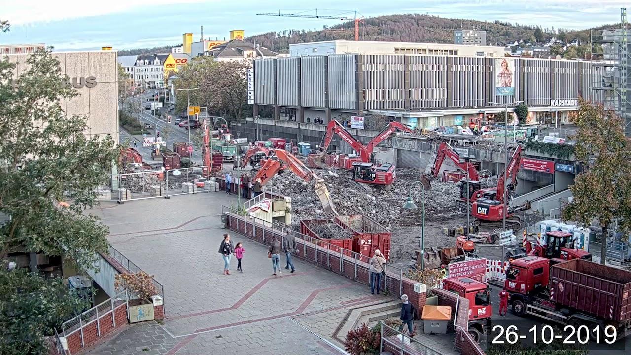 Zeitraffer Video Perspektive Rathaus 2 Abriss Schillerplatz Brücke