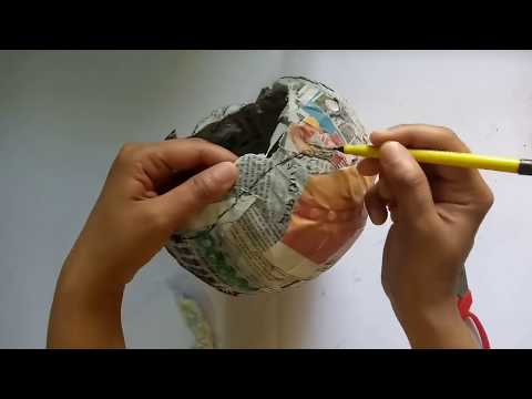 Balloon Craft With Waste Newspaper   Best Out Of Waste   CraftLas