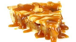 Яблочный пирог с большим количеством начинки. Супер ароматный, вкусный и оригинальный. 4к
