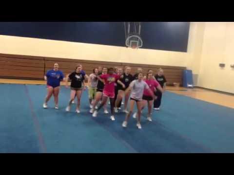 Stanley high school winter cheer state comp routine practice