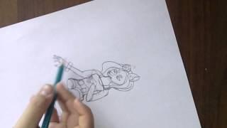 Как нарисовать девушку волка .How To Draw Furry.