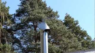 Flue cap rotating with wind change