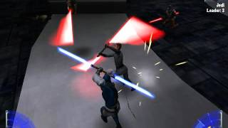 Star Wars Jedi Knight: Jedi Academy multiplayer gameplay against bots