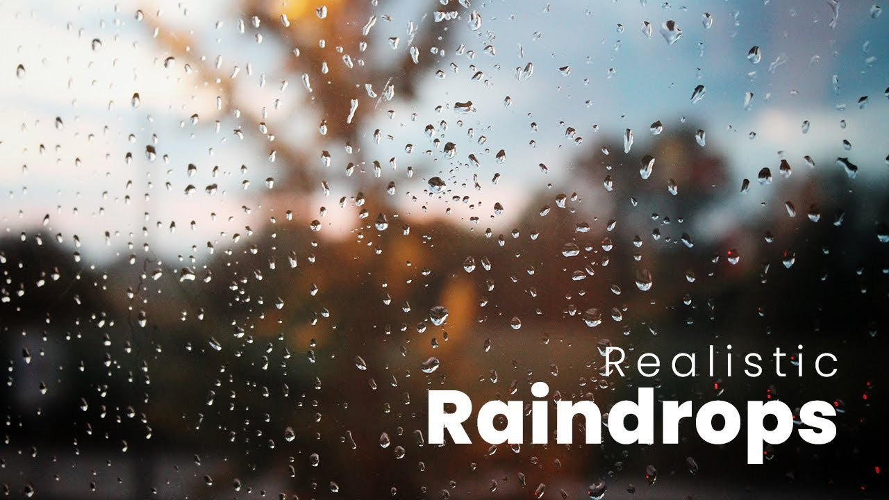 Realistic Raindrops Effect With Javascript Canvas | Rainyday.js