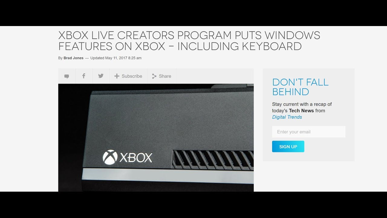Xbox One gets Keyboard & Mouse support!!!