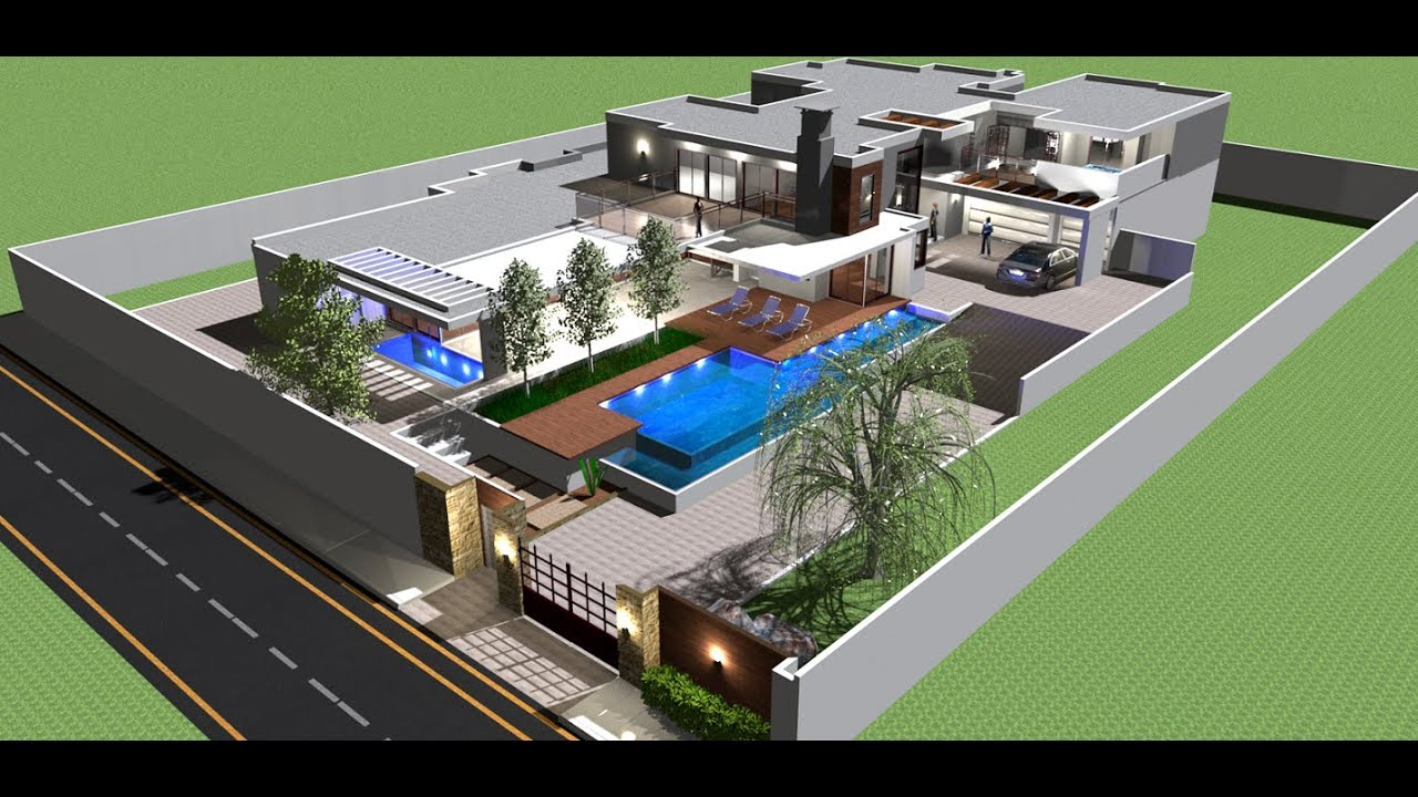 Front Pool Modern House Design Sweet Home 3d Youtube