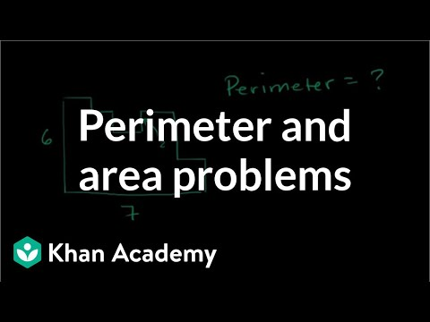 Interesting perimeter and area problems | Perimeter, area, a