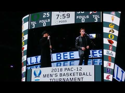 Worst halftime show ever?  Australian Bee Gees booed off the court