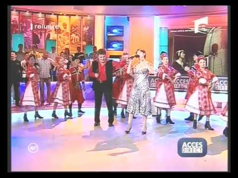 Ansamblul Profesionist Doina Oltului condusa de Costinel Alecsandrescu alaturi de Adriana Antoni   Kazacioc la Antena 1 Acces Direct