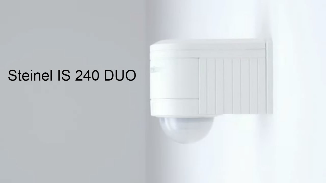 how to install motion sensor is 240 duo from steinel germany youtube. Black Bedroom Furniture Sets. Home Design Ideas