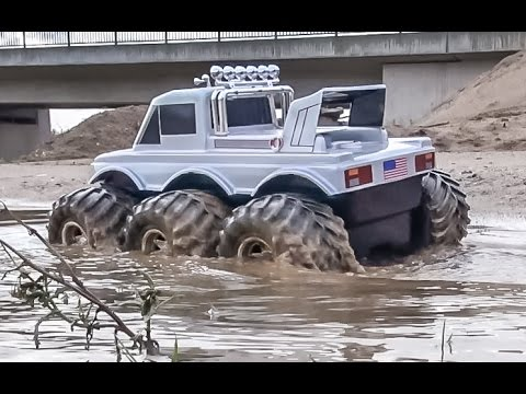 Rc Amphibious Vehicle Water Test Will It Be Dense And Dry