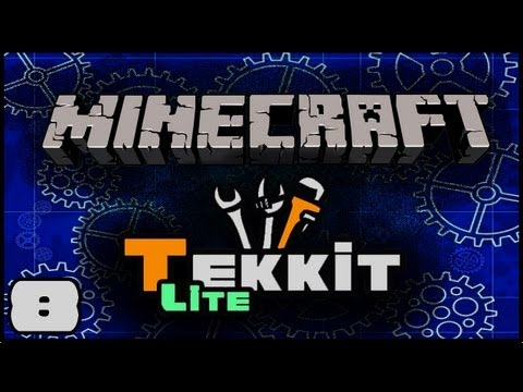 Minecraft: Tekkit Lite with Lewis - Red Stone Energy Cell, Glacial Precipitator, Igneous Extruder #8