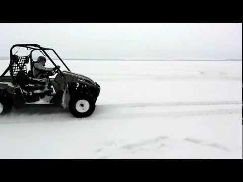 квадроцикл кавасаки терикс kawasaki teryx дрифт на снегу snow