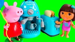 Peppa Pig & Dora The Explorer Cooking Set - Toy Review