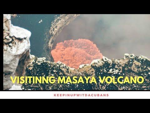 Travel Couple At Masaya National Park & Volcano In Masaya, Nicaragua