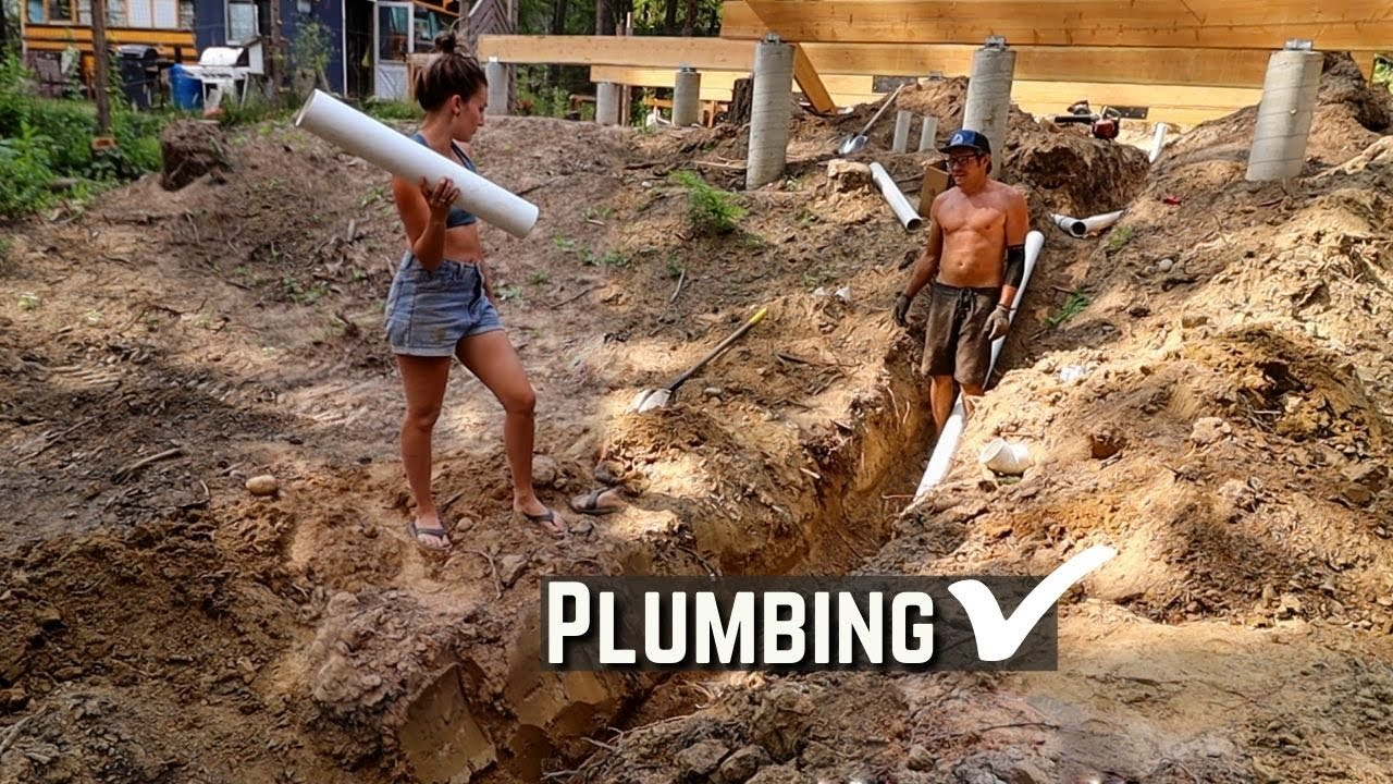 Plumbing is DONE...kinda   Building an Off Grid Home in the Mountains