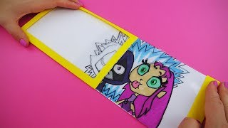 Teen Titans Go! Magic Slider Card with Raven and Starfire| DIY Gift Card