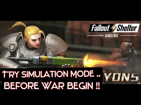 """Simulation Batlle in """"Memory Den"""" Gameplay - Fallout Shelter Online (Android) 