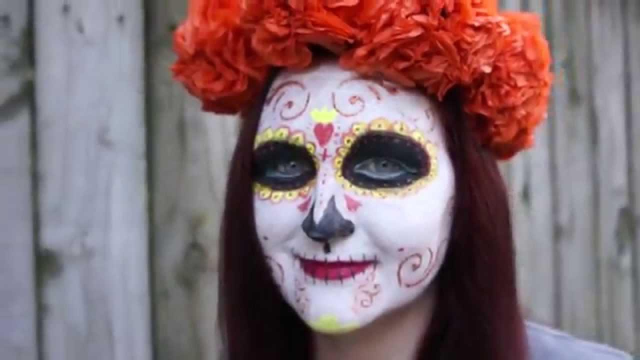 Paper mexican marigold flower headpiece craft youtube paper mexican marigold flower headpiece craft mightylinksfo