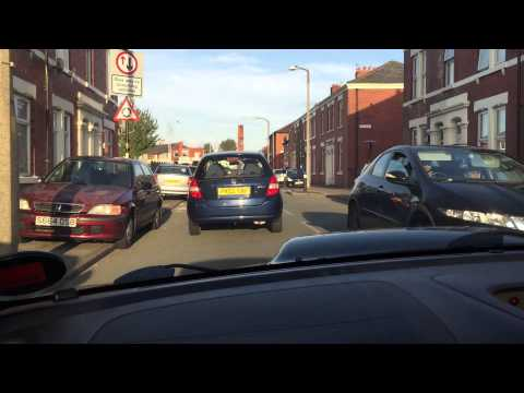 Subaru Impreza RB320 sti cruising about in City of Preston Lancashire.