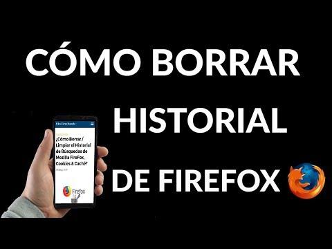 ¿Cómo Borrar / Limpiar el Historial de Búsquedas, Cookies & Caché de Mozilla FireFox?