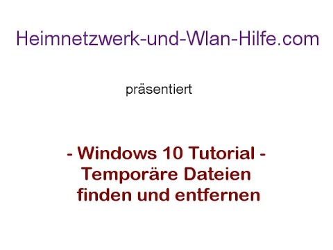 windows 10 temporäre dateien löschen