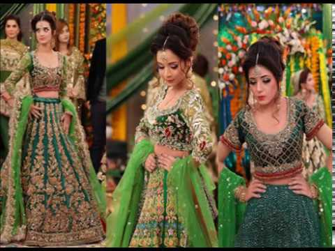Mehndi Party Dresses 2016 : Kashif aslam presenting his boutiques most beautiful mehndi dresses
