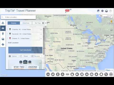 Using AAA TripTik Travel Planner -  Directions To Multiple Locations