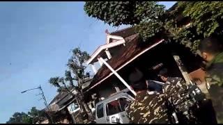 Konvoi HTI (Anti Pancasila, UUD 45) dibubarkan Banser NU Trenggalek-Tulungagung