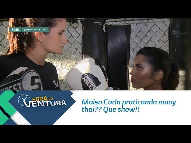 Maísa Carla praticando muay thai?? Que show - Bloco 01
