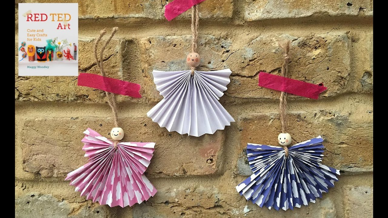Christmas Crafts Concertina Paper Angels Weihnachts
