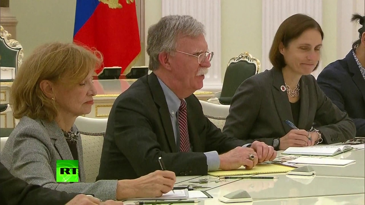 John Bolton meets Putin during his visit to Moscow