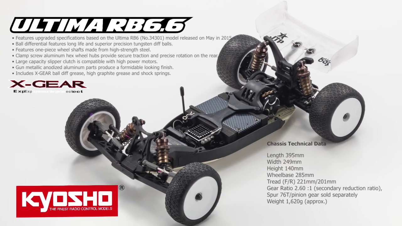 Kyosho Ultima RB6 6 1/10 2WD Electric Buggy Kit