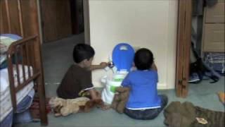 Akshay and Praveen's potty training