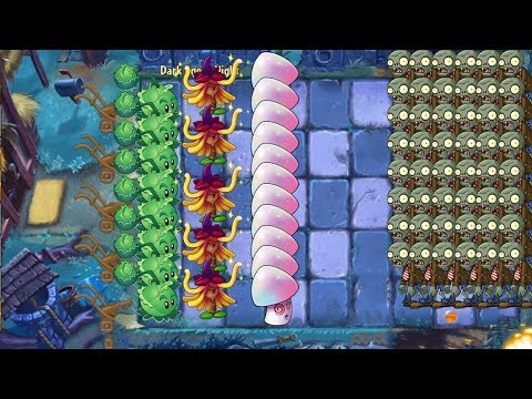 Plants vs Zombies 2 - Cabbage Pult, Witch Hazel and Hypno Shroom