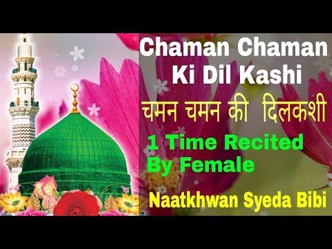 Chaman Chaman ki DilKashi Naat |Nabi Nabi |New Version ||چمن چمن کی دلکش |By SYEDA BIBI