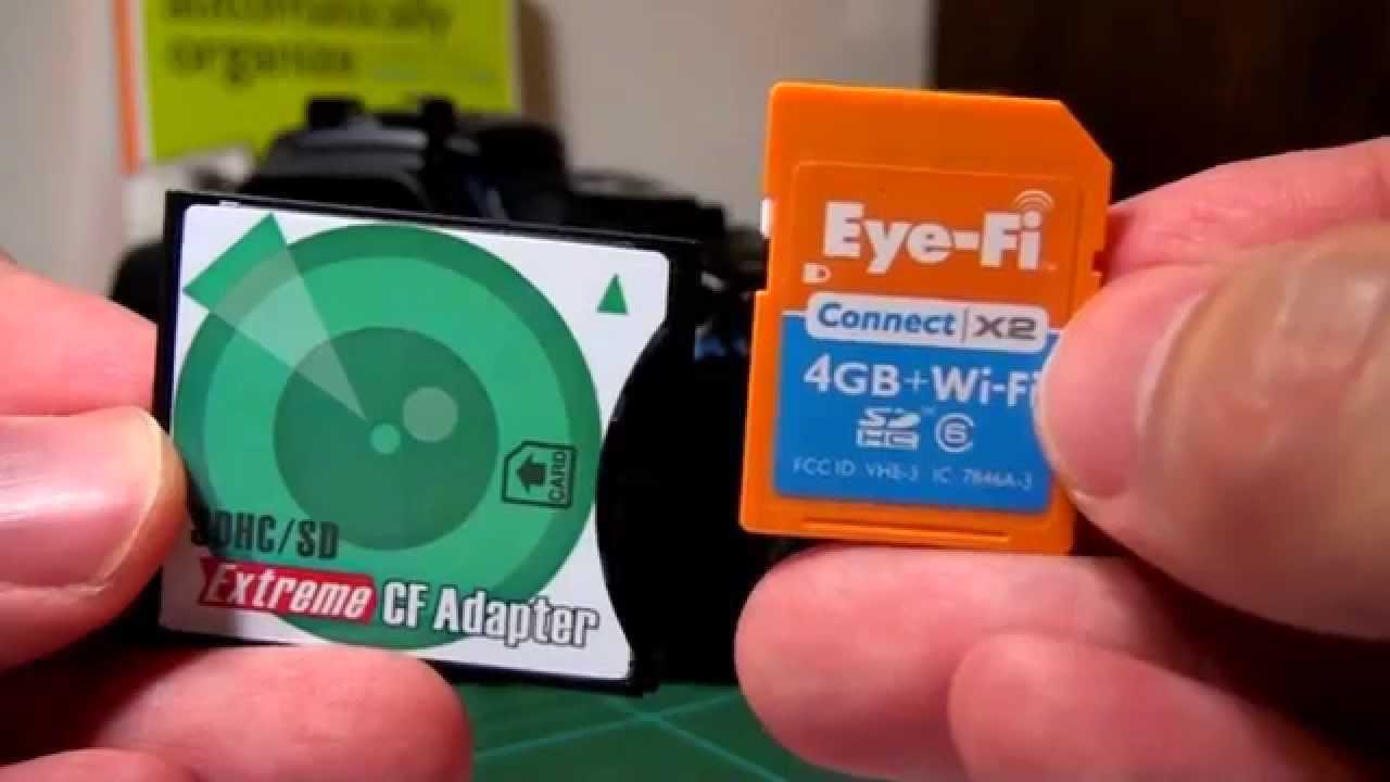 Stop Buying Cf Cards Eye Fi Compatible Sd To Cf Adaptor Youtube