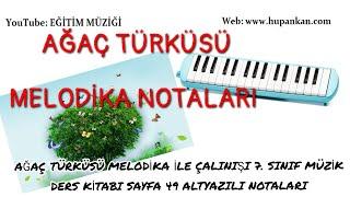 Sayfa 49 ağaç türküsü melodika ile çalınışı 7 Sınıf müzik ders kitabı
